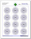 Circle Addition Hard Random Single Fact Worksheet www.dadsworksheets.com/worksheets/addition.html
