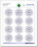 Circle Addition Simple Random Single Fact Worksheet www.dadsworksheets.com/worksheets/addition.html