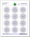 Circle Addition Simple Random Single Fact Worksheet