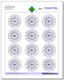 Circle Addition Simple Single Fact Worksheet