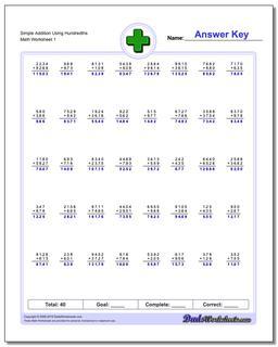Simple Addition Worksheet Using Hundredths #Addition #Worksheet