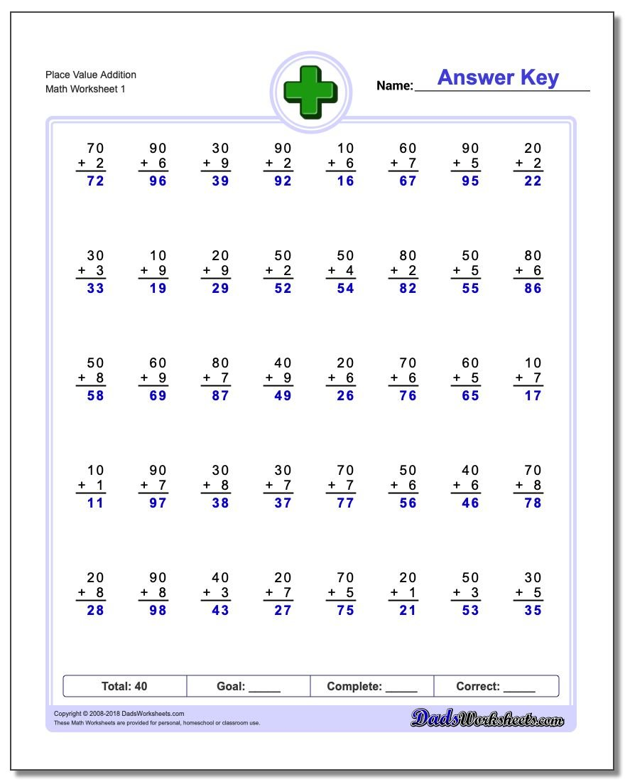 Worksheets Rocket Math Addition Worksheets 396 addition worksheets for you to print right now place value worksheet