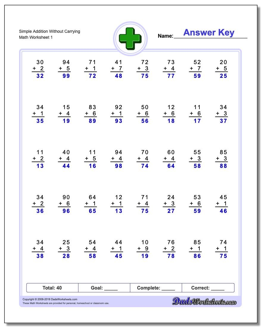 396 Addition Worksheets for You to Print Right Now – Worksheets Addition