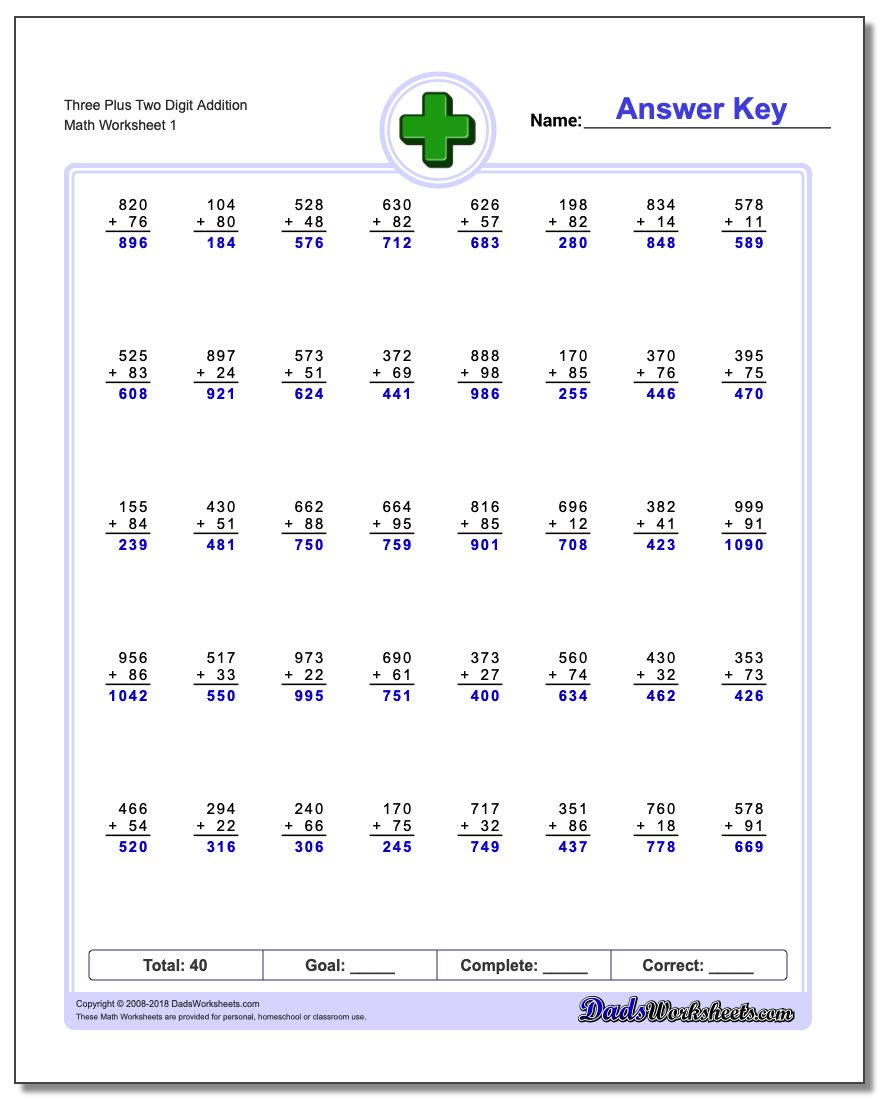 Uncategorized Three Digit Addition Worksheets more complex addition worksheet three plus two digit