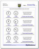 Elapsed Time Harder Full Hours Worksheet