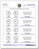 Elapsed Time Minutes to Full Hours Worksheet