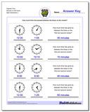 Elapsed Time Minutes to Half Hours Worksheet