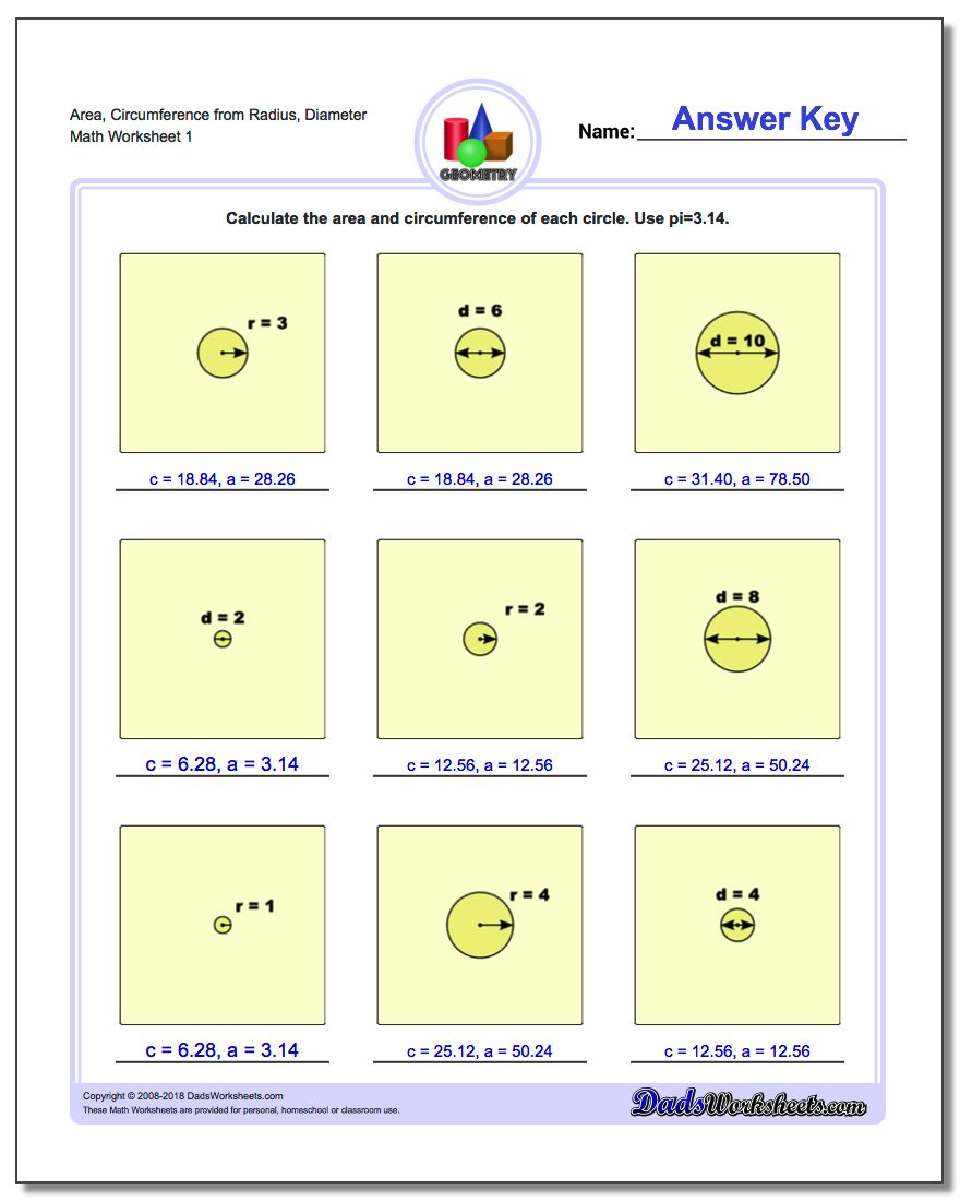 Free Worksheet Circumference Worksheet circles area and circumference worksheet 4