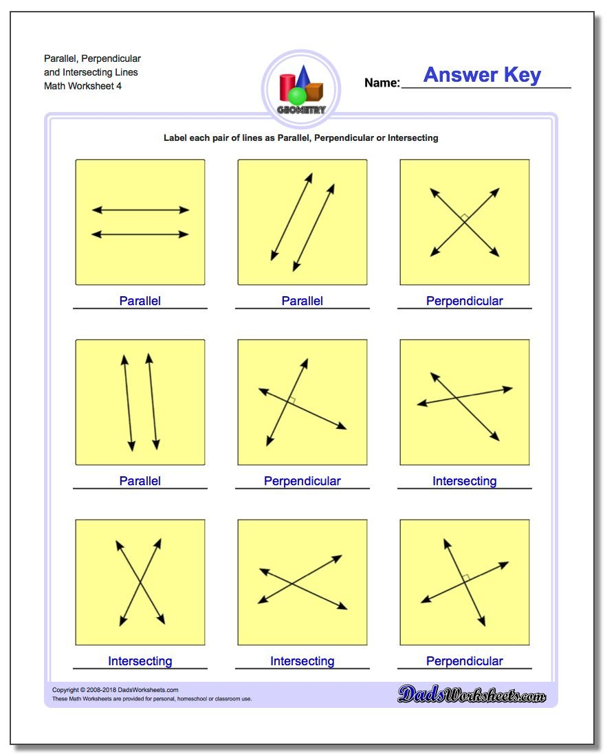 Parallel Perpendicular Intersecting