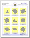 Name the Rotated Quadrilaterals Worksheet