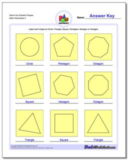 Name the Rotated Shapes Worksheet #Basic #Geometry #Worksheet