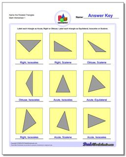 Name the Rotated Triangles Basic Geometry Worksheet