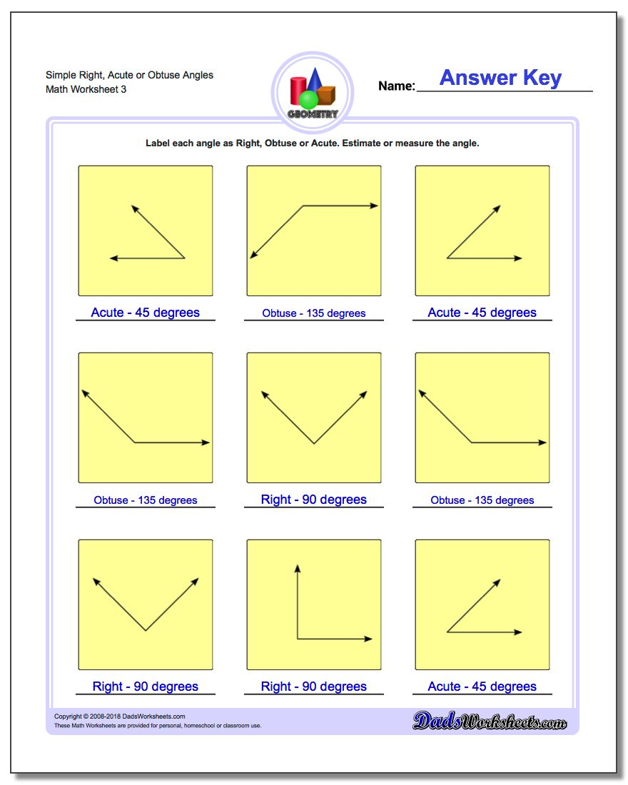 Worksheets Types Of Angles Worksheet angles right obtuse acute simple or worksheet