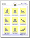 Name the Triangles www.dadsworksheets.com/worksheets/basic-geometry.html Worksheet