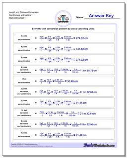 Customary and Metric Worksheet