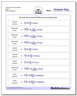 Customary Unit Conversion Worksheet Mass 1 www.dadsworksheets.com/worksheets/customary-unit-conversions.html