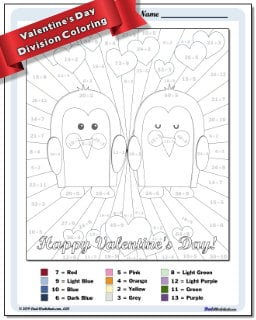 Division Color by Number Worksheets