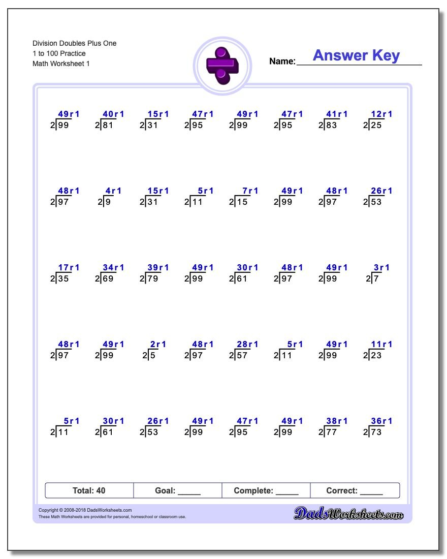 worksheet Doubles 1 Worksheet division of doubles plus one worksheet 1 to 100 practice