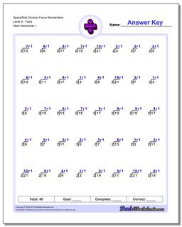 Division Worksheet SpaceshipMathFocus on Remainders