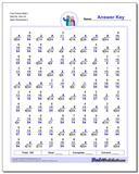 Fact Family Math I 9x6=54, 4x4=16 Worksheet