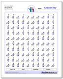 Fact Family Math K 9x8=72, 6x6=36 Worksheet