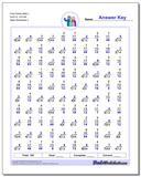Fact Family Math L 4x3=12, 7x7=49 Worksheet