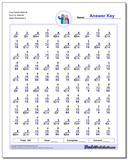 Fact Family Math M 5x3=15, 8x8=64 Worksheet