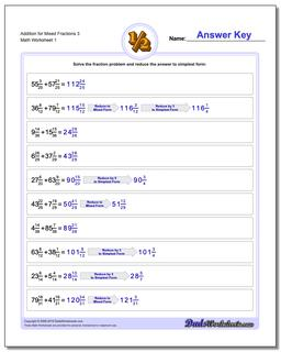 Adding Fraction Worksheets Addition Worksheet for Mixed 3