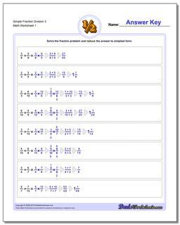 Simple Fraction Worksheet Division Worksheet 3 Dividing Fractions