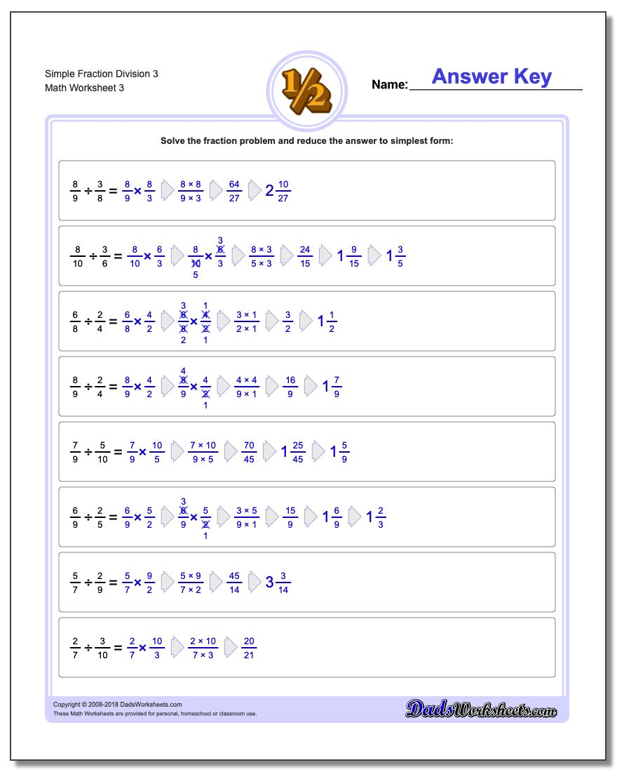 Simple Fraction Division