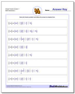 Simple Fraction Worksheet Division Worksheet 1 www.dadsworksheets.com/worksheets/fraction-division.html