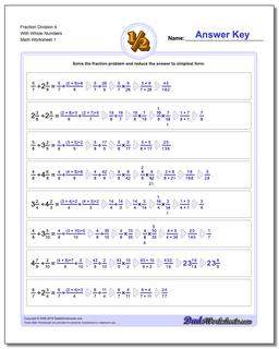 Fraction Worksheet Division Worksheet 4 With Whole Numbers Dividing Fractions