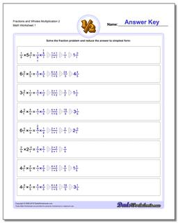 Multiplying Fraction Worksheets and Wholes Multiplication Worksheet 2