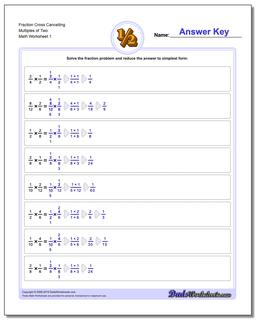 Cross Cancelling Workouts Fraction Worksheet Multiplication Worksheet