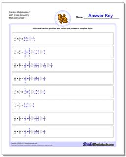 Fraction Worksheet Multiplication Worksheet with Cross Cancelling