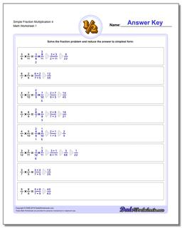 Simple Fraction Worksheet Multiplication Worksheet 4 Multiplying Fractions