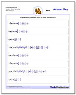 Fraction Worksheet Multiplication Worksheet Full