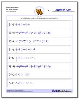 Fraction Worksheet Multiplication Worksheet 1 With Whole Numbers #Fraction #Worksheet #Multiplication #Worksheet