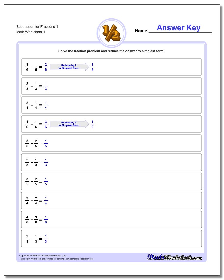 Math Worksheets – Fractions of a Whole Worksheet