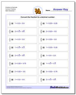 Th Grade Math Worksheets Th Grade Math Worksheets Fractions As Decimals