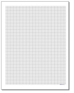 Engineering Metric Graph Paper