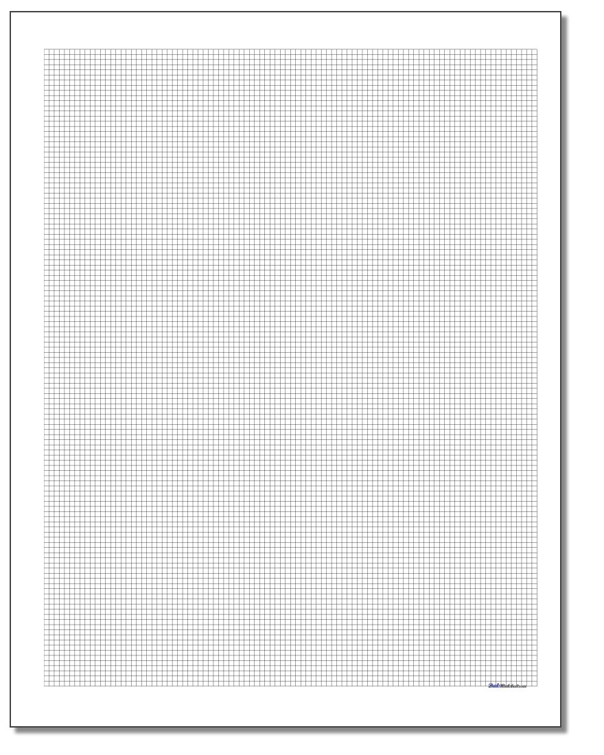 Plain Metric Graph Paper