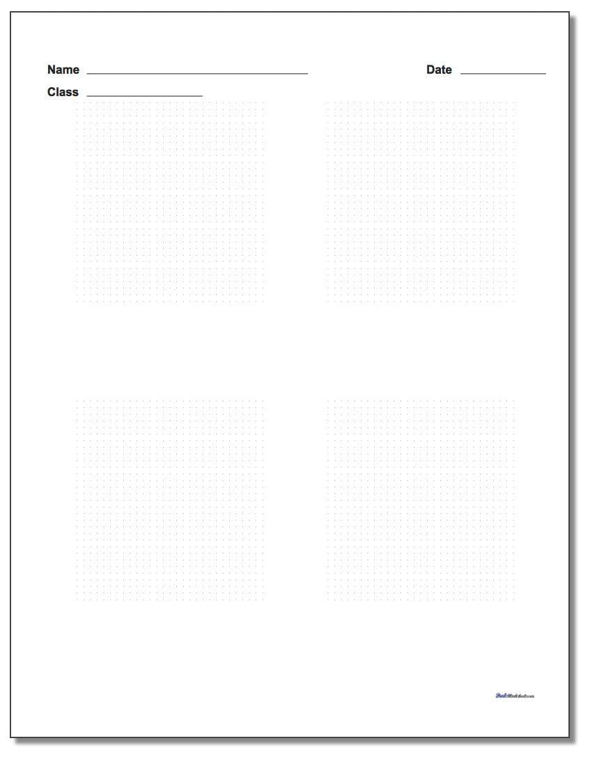 Four Problem Coordinate Plane Worksheet Paper