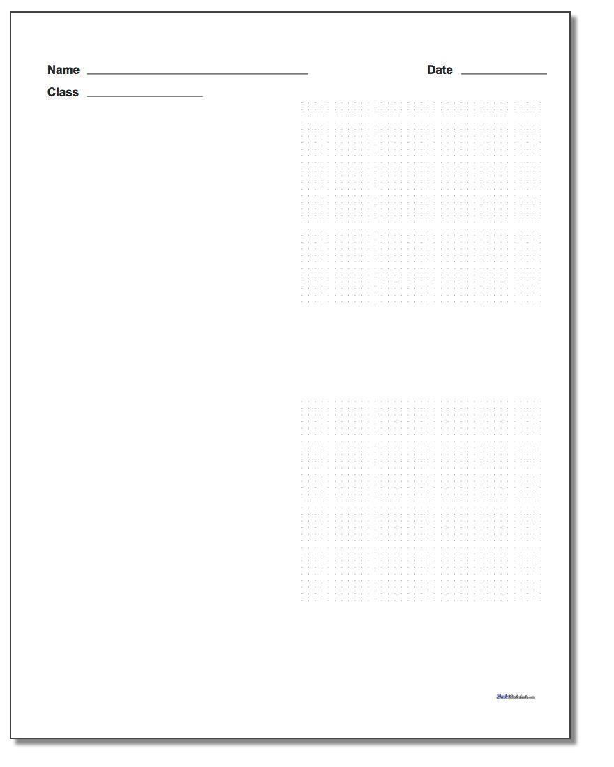 Two Problem Coordinate Plane Worksheet Paper