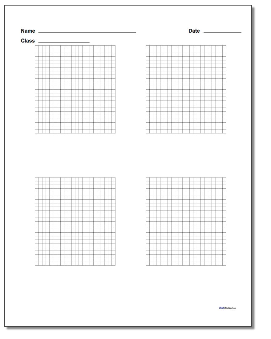 Four Problem Coordinate Plane Worksheet Paper