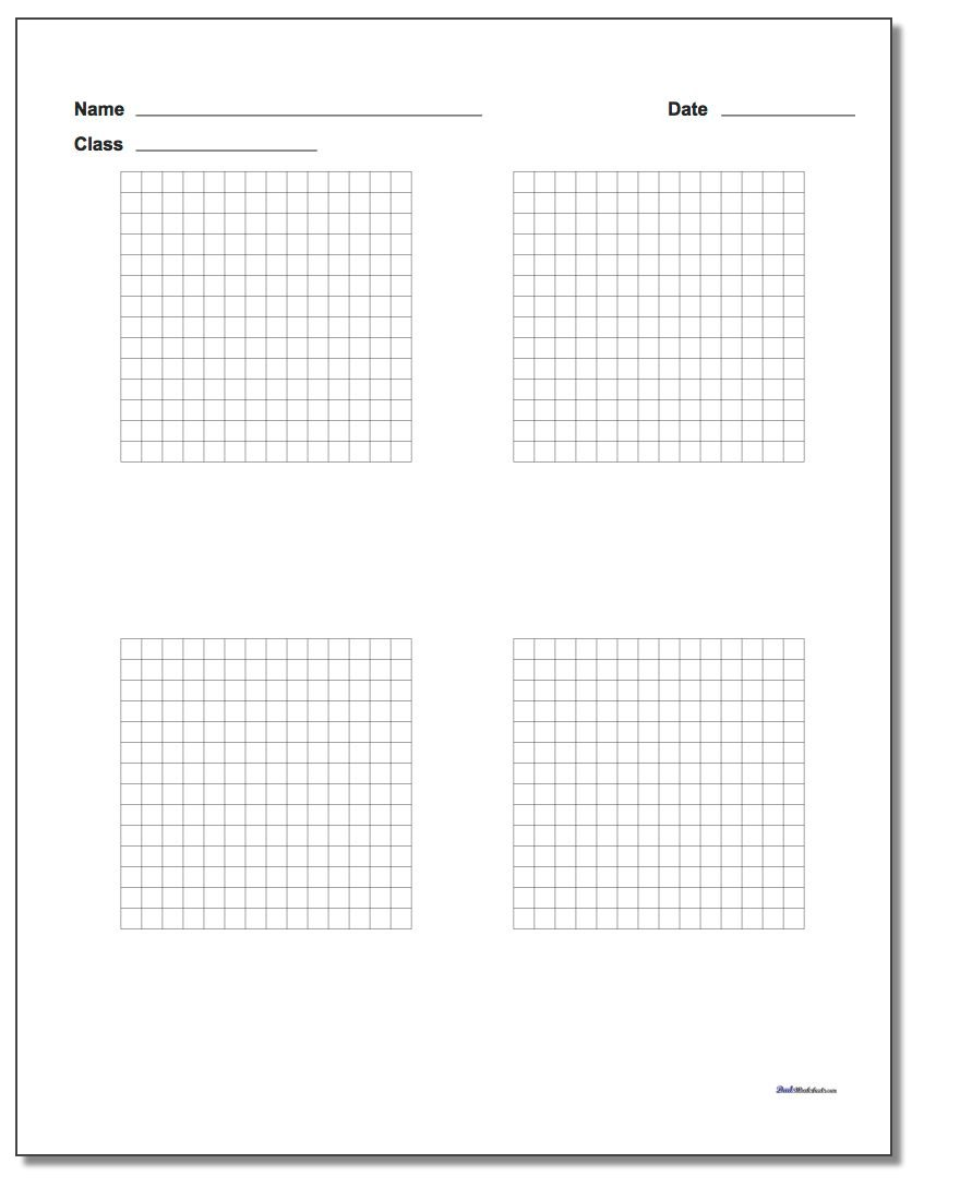 Four Problem Coordinate Plane Worksheet Paper www.dadsworksheets.com/worksheets/graph-paper.html