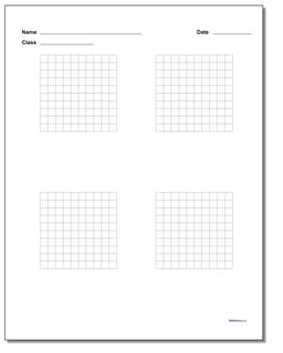Graph Paper Four Problem Coordinate Plane Worksheet