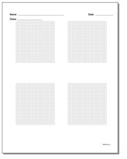Four Problem Coordinate Plane Worksheet Paper #Graph #Paper