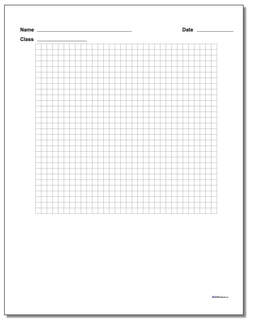 Single Problem Coordinate Plane Worksheet Paper www.dadsworksheets.com/worksheets/graph-paper.html