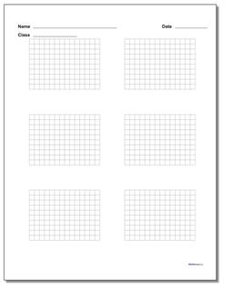 Six Problem Coordinate Plane Worksheet Paper #Graph #Paper